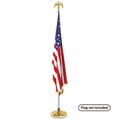EasyGoProducts Telescoping Indoor Flag Pole Kit With Base Stand And Gold Eagle � • 53.33£