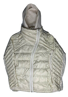 $ CDN125.15 • Buy Lululemon Women's Cream Color Quilted Asymmetrical Zip Puffer Jacket Size 12