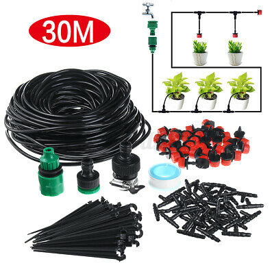 30M Watering Tubing Hose Pipe Automatic Micro Drip Garden Irrigation System Set  • 10.99£