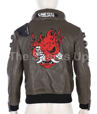 $ CDN159.99 • Buy New Cyberpunk 2077 Video Game Casual Bomber Embroidery Style Leather Jacket