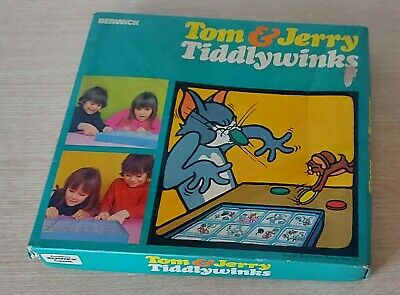 £5.99 • Buy Vintage Berwick Tom & Jerry Tiddlywinks, Boxed & Complete, 1970