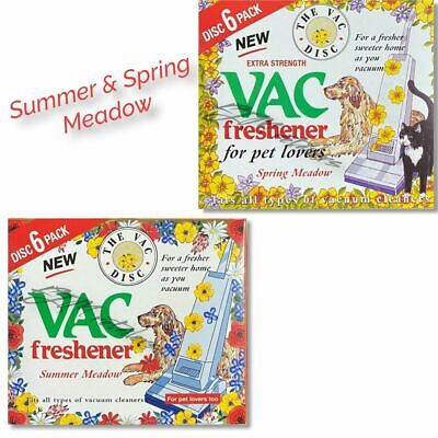 2x 6 PACK Vac Disc Air Freshener SPRING &SUMMER Vacuum Cleaner Pet Lovers Hoover • 3.39£