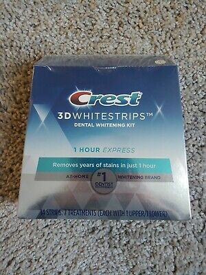 AU25.29 • Buy Crest 1 Hour Express 3D Teeth Whitening Strips Kit - 7 Count