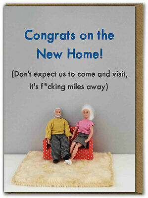 Funny Dolls New Home Card F*cking Miles Away RUDE Amusing Comedy Humour Cheeky  • 3.50£