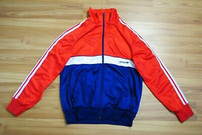 VINTAGE ADIDAS TRACK TOP JACKET 1980s MADE IN WEST GERMANY SIZE D5 SMALL (XS) • 49.52£