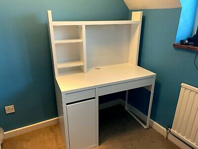 Ikea Micke Desk With Draws And Side Cupboard White, Used Condition Light Wear • 23£