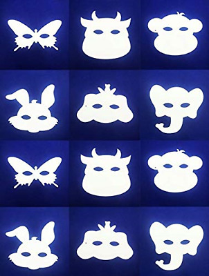 Creator Zone 12pk Colour In Masks To Decorate And Make   Animal Masks In 6 To • 5.33£