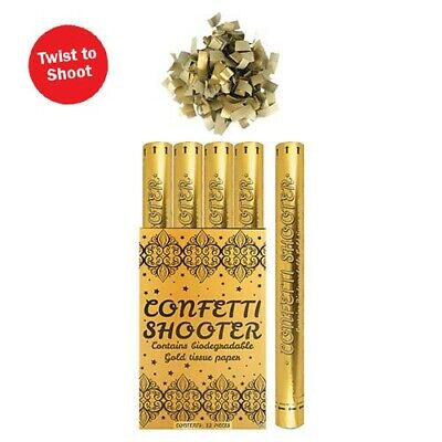£14.99 • Buy Confetti Shooter Gold Biodegradable 50cm Compressed Air Cannon Party Wedding