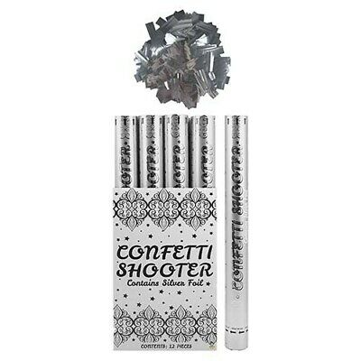£9.99 • Buy Confetti Shooter Blaster Silver Foil 50cm Compressed Air Cannon Party Wedding