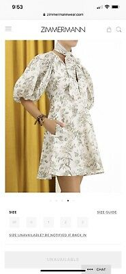 AU430 • Buy Zimmermann Linen Day Mini Dress Size 0