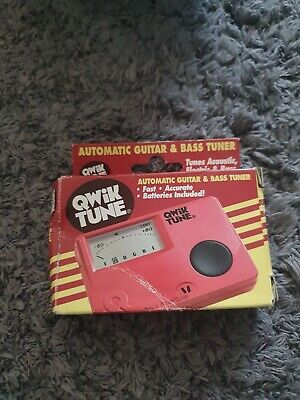 AU15.99 • Buy Qwik Tune Guitar And Bass Tuner