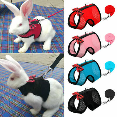 £3.69 • Buy Small Animal Harness Leads Hamster Rabbit Cat Ferrets Squirrel Rat Vest Clothes