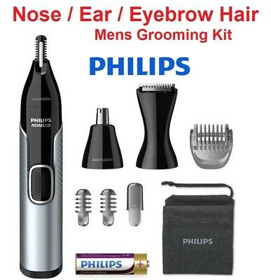 AU37.45 • Buy PHILIPS Nose Ear Eyebrow Hair Trimmer Shaver Cordless Groomer Lithium Battery