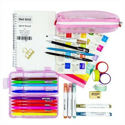 AU45.41 • Buy Bullet Journal Essential Kits For Beginners - Spiral Dotted Notebook, Brush Pen
