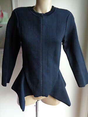 AU199 • Buy SCANLAN THEODORE Beautiful Black Crepe Knit Jacket Size Large
