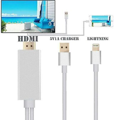 £9.49 • Buy 8 Pin To HDMI Cable HD TV Adapter Lead For Iphone 12 11 Pro XR XS Max 8 7 6 Ipad