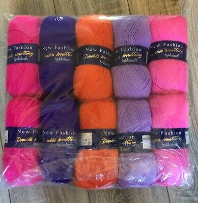 Double Knitting Wool Bright Girl Tone Pack - 10x 100g Balls DK Assorted • 16.99£