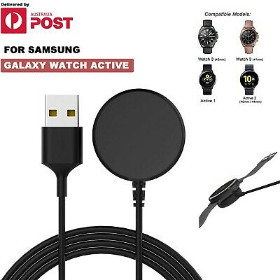 AU9.99 • Buy USB Charger Charging Dock Cradle Cable Samsung Galaxy Watch Active 1/2 40/44mm