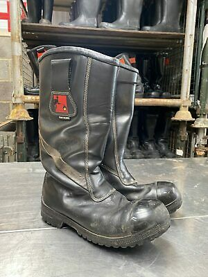 £24.99 • Buy Tuffking Ex Fire & Rescue Firefighter Fire Boots Safety Leather Rigger Boot -...