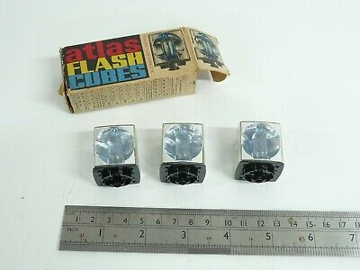 Atlas Flash Cubes NoS New Old Stock 3 Cubes - 12 No Camera Flashes • 4.99£