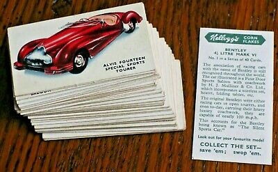 £19.99 • Buy Motor Cars, ( Coloured ) 1949  Kellogg Trade Cards,pick The Cards You Require