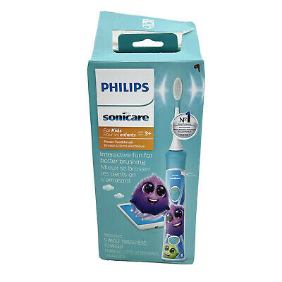 AU47.79 • Buy Philips Sonicare For Kids Rechargeable Electric Toothbrush, Blue HX6321/02 NEW
