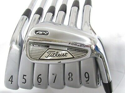 AU65.28 • Buy Used RH Titleist AP2 Forged Iron Set 4-P Firm Flex Steel Shafts