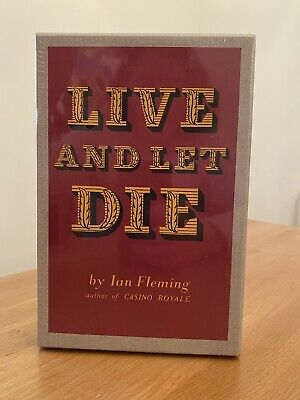 Ian Fleming LIVE AND LET DIE 1st Edition Library Facsimile 1954 JAMES BOND 007 • 32£