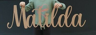 £10.99 • Buy Personalised Letters Wood Script Name Large Wall Sign Room Decor Nursery Plaque
