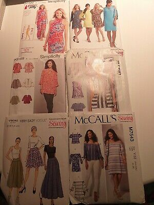 Simplicity Dressmaking Patterns 6 UNCUT Ladies  Summer Dresses Blouses Tops  • 22£