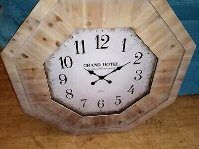 £25 • Buy Large Wooden Octagonal Wall Clock Brand New