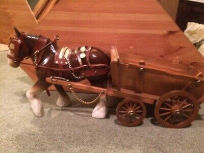 Shire Horse And Cart Ornament • 35£