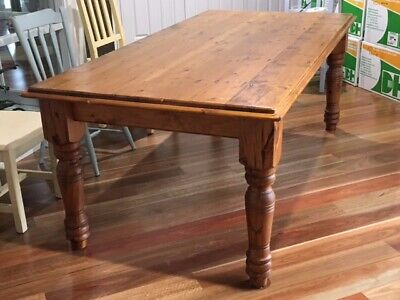 AU130 • Buy Large Baltic Pine Dining Table - Used, Seats Up To 8 (chairs Not Included)