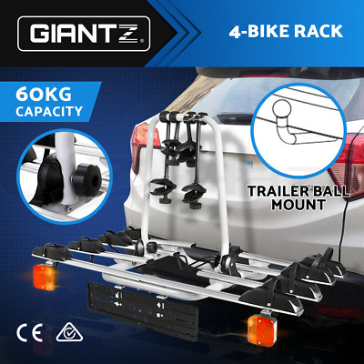 AU299.95 • Buy Giantz Bike Rack Carrier Bicycle Towbar Hitch Ball Mount Car Rear Rack 4Bicycles