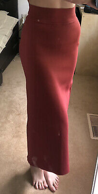 AU34 • Buy Scanlan Theodore Crepe Knit Skirt In Henna Red M Medium AU 10-12 RRP $400