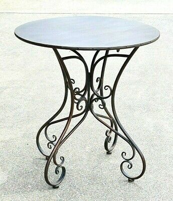 AU165 • Buy FRENCH Provincial COFFEE SIDE ACCENT TABLE 70CM DIAM  ANTIQUE BROWN  NEW