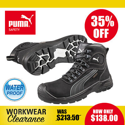 AU138 • Buy Puma Safety Work Boots 630527 Sierra Nevada Black Waterproof Lace Up NEW
