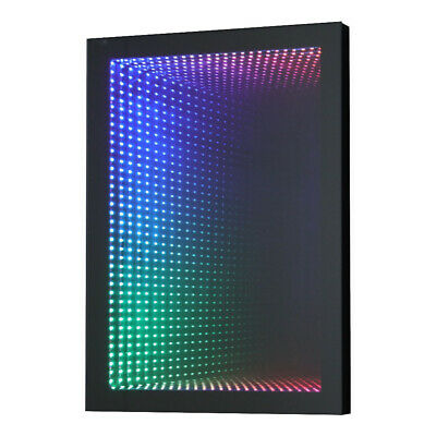 £145.95 • Buy Rectangular 3D Infinity RGB LED Illuminated Wall Mirror With Tunnel Light Effect