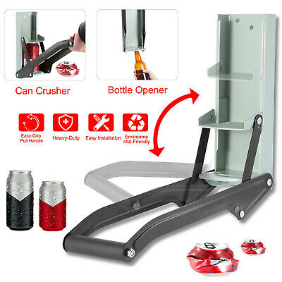 £7.89 • Buy 16OZ 500ml Can Crusher Recycling Tool Wall Mounted Beer Tin Bottle Opener Tools