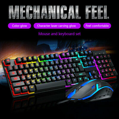 AU29.94 • Buy Keyboard And Mouse Combo Backlit Keyboard Mouse Gaming Computer Accessories AU