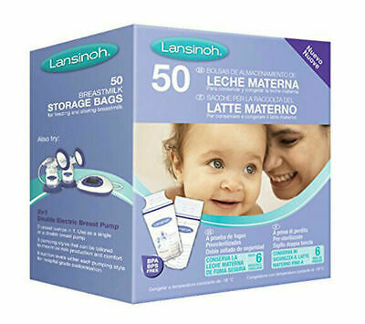 Lansinoh Breast Milk Storage Bags Breastmilk Pouches 50 Count Transparent • 6.50£