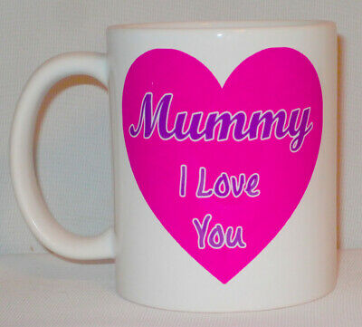 Mummy I Love You Heart Mug Can Be Personalised Funny Mum Mom Mother's Day Gift • 9.99£