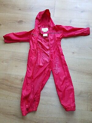 Regatta Waterproof Rain All-in-One Splash Puddle Suit Age 4 - 5 Years • 7.50£