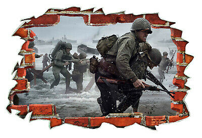 £13.99 • Buy Call Of Duty WW2 Game PS4 XBOX 3D Wall Breakout Wall Sticker Bedroom Art #030
