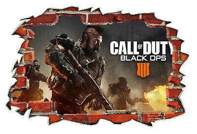 £16.99 • Buy Call Of Duty Grey Shooter PS4 Xbox 3D Wall Breakout Wall Sticker Bedroom #029