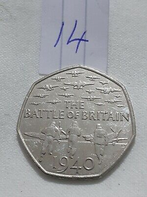 50p 2015 Battle Of Britain 50 Pence Coin • 0.75£
