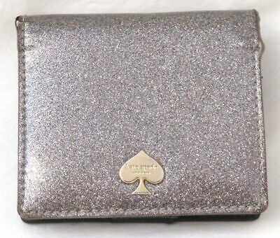 $ CDN12.59 • Buy Kate Spade Silver Glitter Small Bifold Carryall Wallet