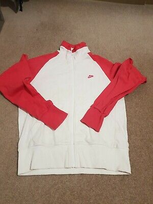 NIKE Girls Tracksuit Top Track Jacket 13-15 Years XL Grey Cotton Polyester • 9.99£
