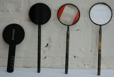 4x ANTIQUE VINTAGE OPTICIANS OPTOMETRY OPTHALMOLOGY LENS - EYE TEST TOOLS. • 14.99£