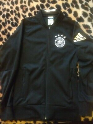 Adidas Germany Track Suit Jacket Deutschland Black In Great Condition • 10£